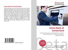 Bookcover of Union Bank of Switzerland