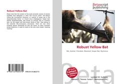 Bookcover of Robust Yellow Bat