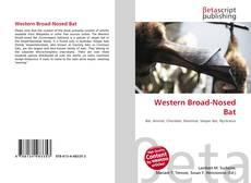Обложка Western Broad-Nosed Bat