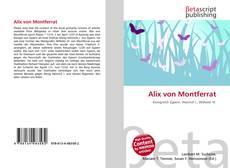 Portada del libro de Alix von Montferrat