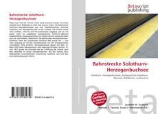 Bahnstrecke Solothurn–Herzogenbuchsee kitap kapağı