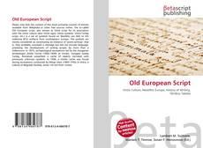 Bookcover of Old European Script
