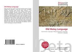 Обложка Old Malay Language