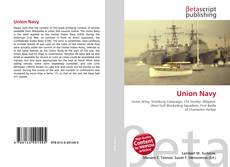 Bookcover of Union Navy