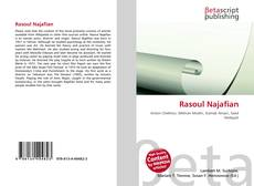 Portada del libro de Rasoul Najafian