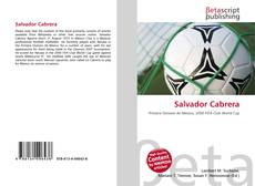 Portada del libro de Salvador Cabrera