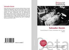 Salvador Durán kitap kapağı