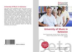 Buchcover von University of Music in Katowice