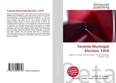 Bookcover of Toronto Municipal Election, 1978