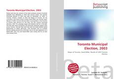 Buchcover von Toronto Municipal Election, 2003
