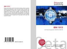 Buchcover von IBM 1013