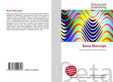 Bookcover of Rana Macrops