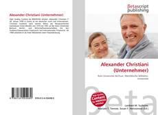 Buchcover von Alexander Christiani (Unternehmer)