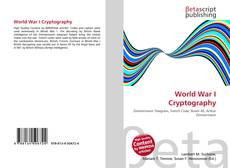 Bookcover of World War I Cryptography