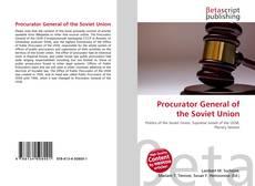 Borítókép a  Procurator General of the Soviet Union - hoz