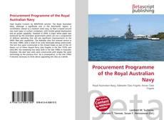Обложка Procurement Programme of the Royal Australian Navy