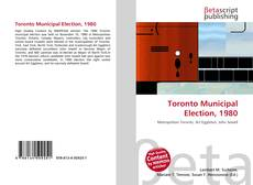 Buchcover von Toronto Municipal Election, 1980