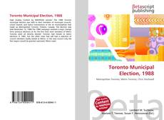 Buchcover von Toronto Municipal Election, 1988