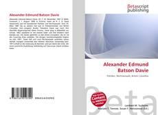 Buchcover von Alexander Edmund Batson Davie