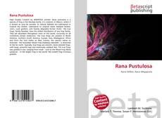 Bookcover of Rana Pustulosa