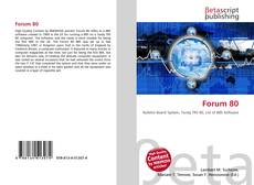 Bookcover of Forum 80