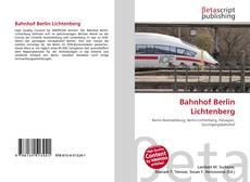 Обложка Bahnhof Berlin Lichtenberg