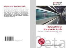 Capa do livro de Bahnhof Berlin Warschauer Straße