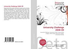 Capa do livro de University Challenge 2008–09
