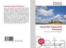 Couverture de Alexander Evgenevich Fersmann