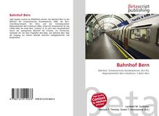 Bookcover of Bahnhof Bern