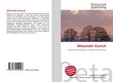 Portada del libro de Alexander Exarch