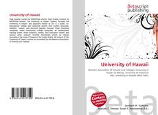 University of Hawaii kitap kapağı