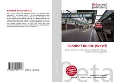Bookcover of Bahnhof Bünde (Westf)