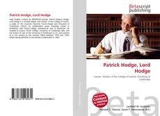 Capa do livro de Patrick Hodge, Lord Hodge