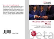 University of Hawaii at Manoa kitap kapağı