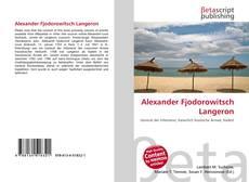 Portada del libro de Alexander Fjodorowitsch Langeron