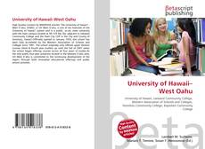 University of Hawaii–West Oahu kitap kapağı