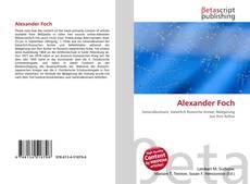 Alexander Foch kitap kapağı