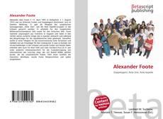 Capa do livro de Alexander Foote
