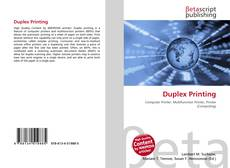 Bookcover of Duplex Printing