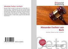 Portada del libro de Alexander Freiherr von Bach