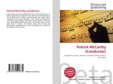 Bookcover of Patrick McCarthy (Conductor)