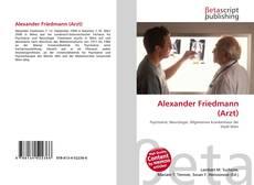 Bookcover of Alexander Friedmann (Arzt)