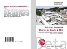Bookcover of Bahnhof Aéroport Charles de Gaulle 2 TGV