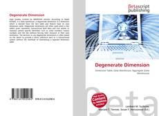 Couverture de Degenerate Dimension