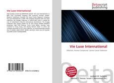 Copertina di Vie Luxe International