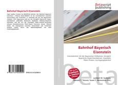 Bookcover of Bahnhof Bayerisch Eisenstein