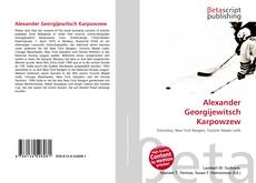 Bookcover of Alexander Georgijewitsch Karpowzew
