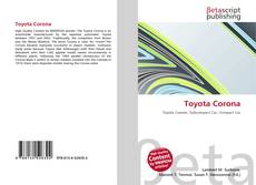 Bookcover of Toyota Corona