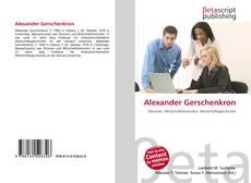 Capa do livro de Alexander Gerschenkron